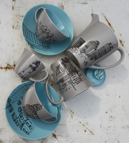 boston tea party tea set